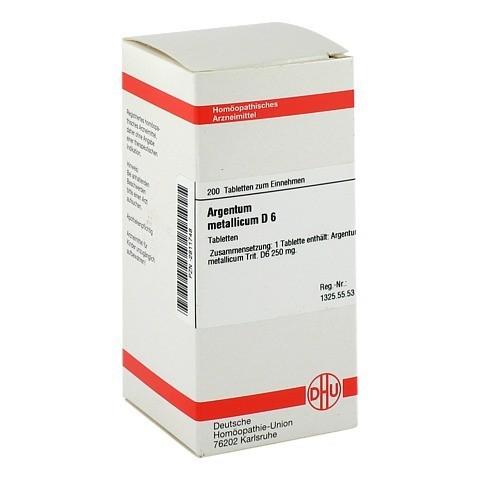 ARGENTUM METALLICUM D 6 Tabletten 200 St�ck N2