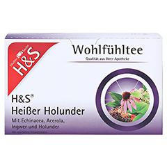H&S heißer Holunder Vitaltee Filterbeutel 20 Stück - Vorderseite