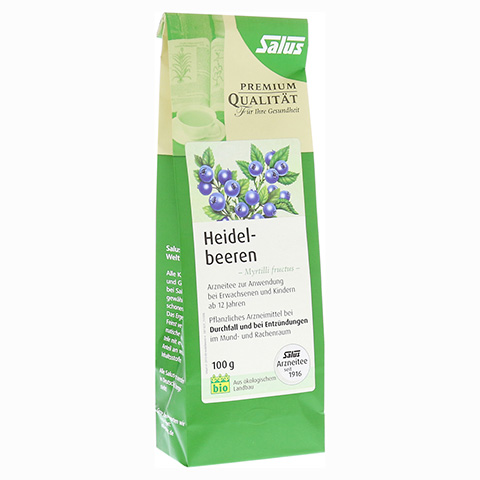 HEIDELBEEREN Arzneitee Myrtilli fructus Bio Salus 100 Gramm