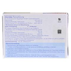 Microlax Rektallösung 4x5 Milliliter N1 - Rückseite