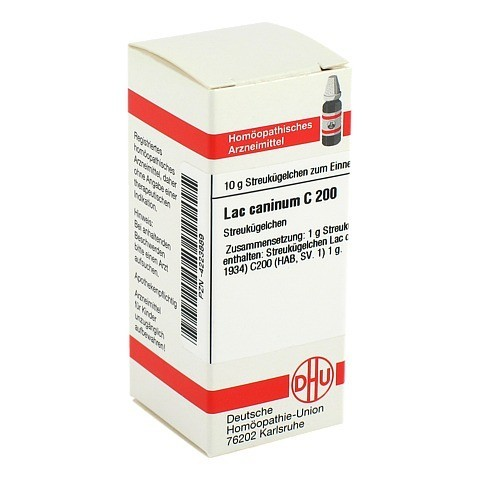 LAC CANINUM C 200 Globuli 10 Gramm N1