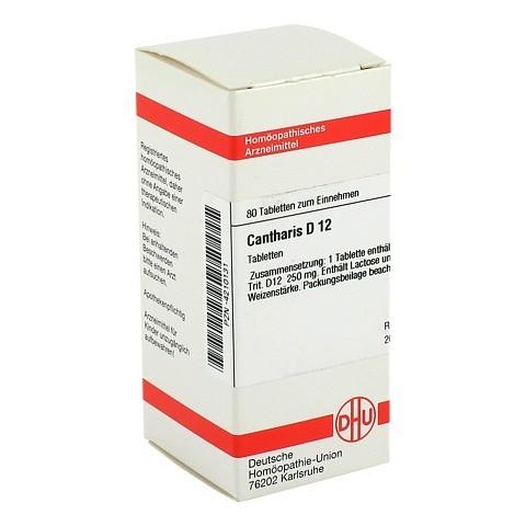 CANTHARIS D 12 Tabletten 80 St�ck N1