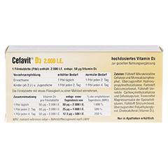 CEFAVIT D3 2.000 I.E. Filmtabletten 100 Stück - Rückseite