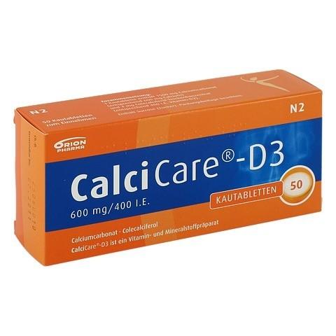CalciCare-D3 600mg/400I.E. 50 Stück N2