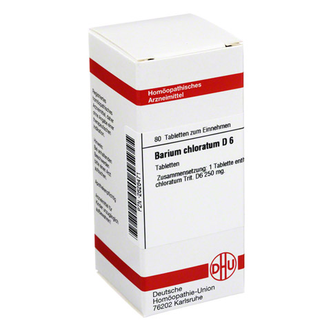 BARIUM CHLORATUM D 6 Tabletten 80 Stück N1