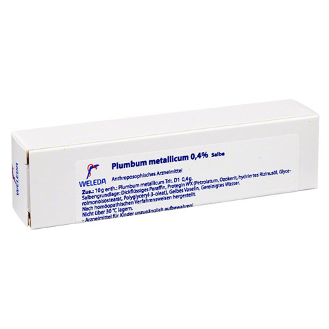 PLUMBUM METALLICUM 0,4% Salbe 25 Gramm N1