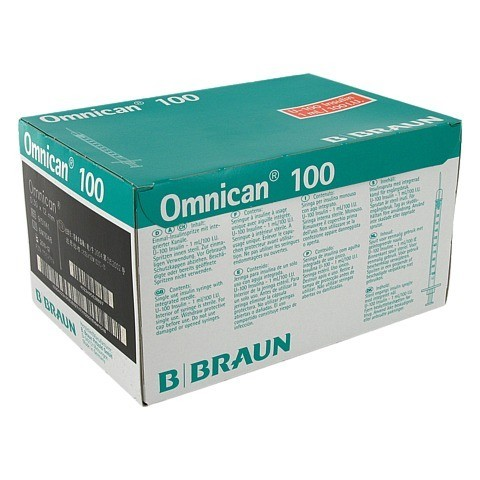 OMNICAN Insulinspr.1 ml U100 m.Kan.0,30x12 mm 100 Stück