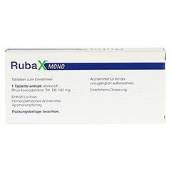 RUBAX MONO Tabletten 20 Stück - Rückseite