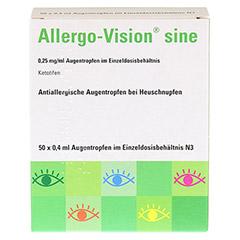 Allergo-Vision sine 0,25mg/ml Augentropfen 50x0.4 Milliliter N3 - Vorderseite