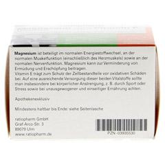 MAGNESIUM UND VITAMIN E ratiopharm Kapseln 60 Stück - Unterseite