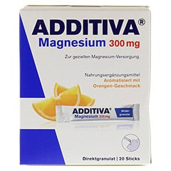 ADDITIVA Magnesium 300 mg Sticks Orange N 20 Stück - Vorderseite