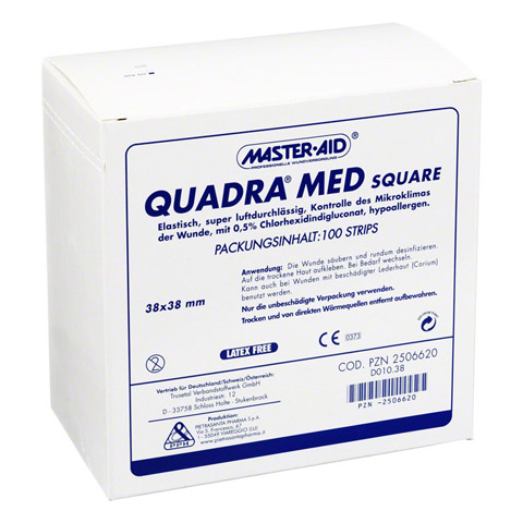 QUADRA MED square 38x38 mm Strips Master Aid 100 St�ck