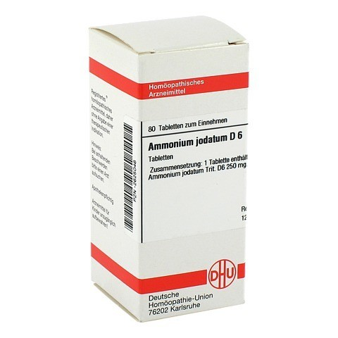 AMMONIUM JODATUM D 6 Tabletten 80 Stück N1