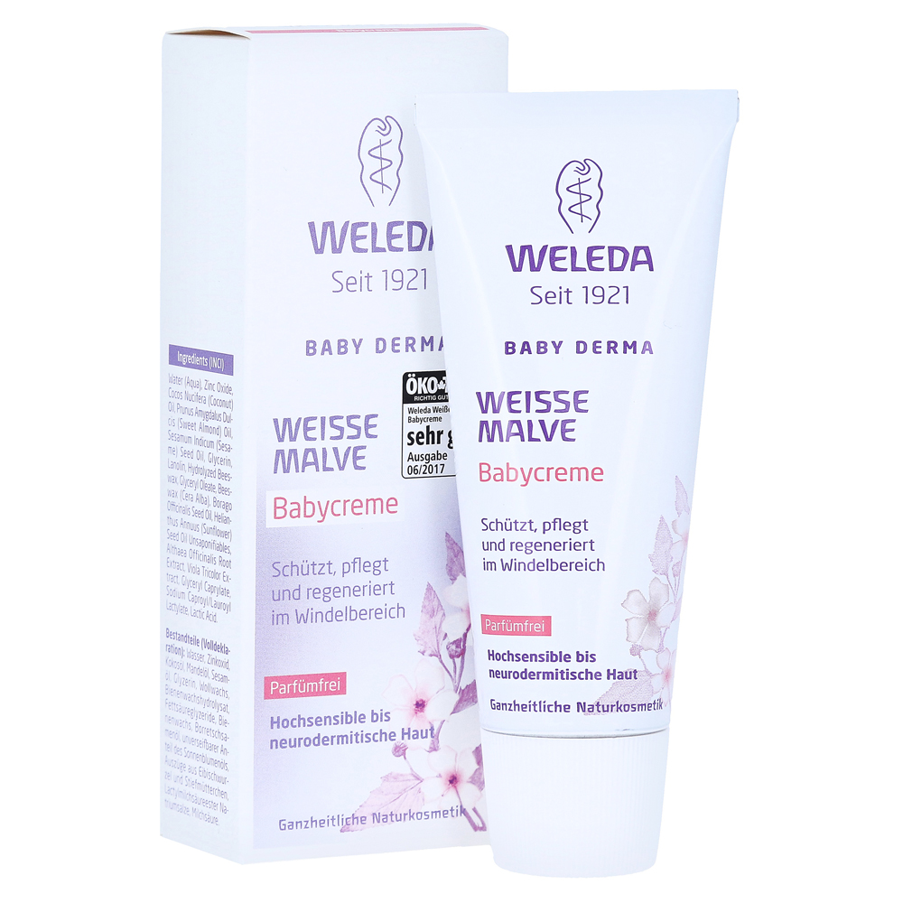 weleda wei e malve babycreme 50 milliliter. Black Bedroom Furniture Sets. Home Design Ideas