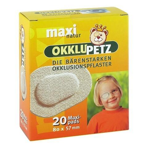 OKKLUPETZ Okklusionspflaster maxi natur 20 Stück