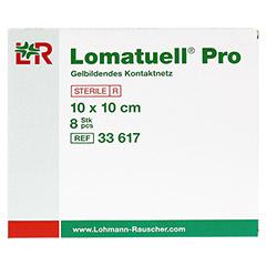 LOMATUELL Pro 10x10 cm steril 8 Stück - Vorderseite