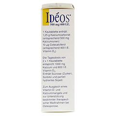 Ideos 500mg/400I.E. 30 Stück - Linke Seite