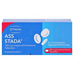 ASS STADA 100 mg magensaftresistente Tabletten 50 Stück N2 - Vorderseite