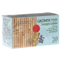 GRÜNER TEE + Ingwer + Ginseng Filterbeutel 20 Stück