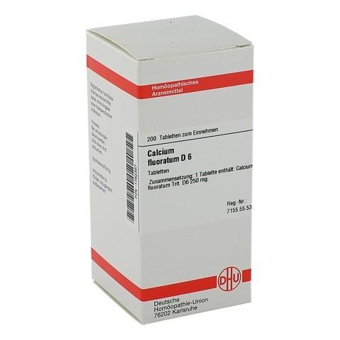 CALCIUM FLUORATUM D 6 Tabletten 200 Stück N2