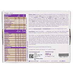 XLIM Aktiv Mahlzeit Riegel Schoko-Vanille 6x75 Gramm - Rückseite