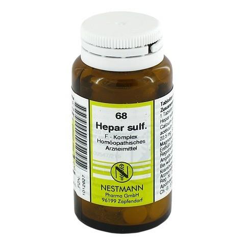 HEPAR SULFURIS F Komplex Nr.68 Tabletten 120 Stück N1
