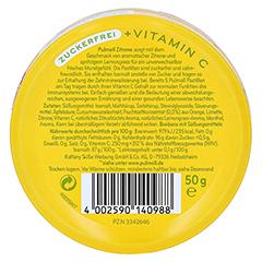 PULMOLL Hustenbonbons Zitrone+Vit.C zuckerfrei 50 Gramm - Rückseite