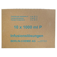 ISOTONISCHE NaCl BC 9 mg/ml 0,9% Inf.-L.Plastikfl. 10x1000 Milliliter N2 - Rechte Seite