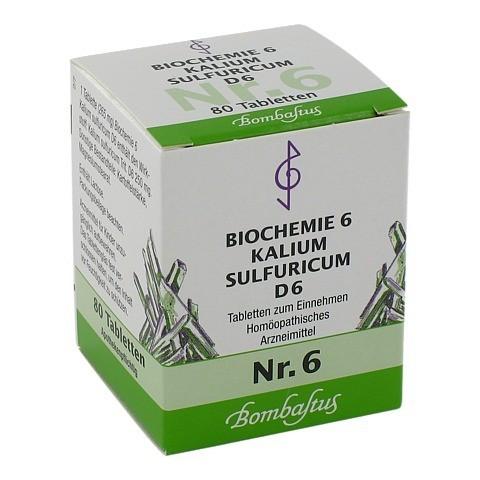 BIOCHEMIE 6 Kalium sulfuricum D 6 Tabletten 80 Stück N1