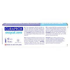CURAPROX enzycal zero Zahnpasta 75 Milliliter - Rückseite