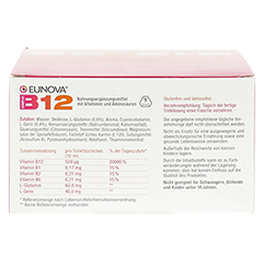 EUNOVA B12 Komplex Trinkfläschchen 30x10 Milliliter - Rückseite