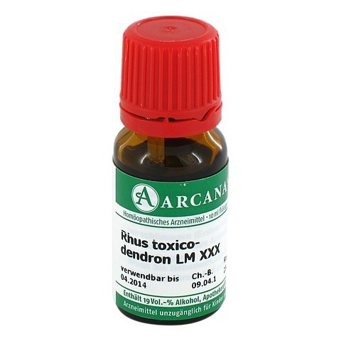 RHUS TOXICODENDRON Arcana LM 30 Dilution 10 Milliliter N1