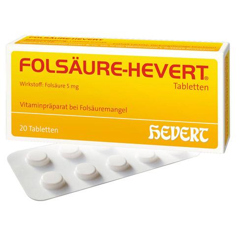 FOLSÄURE HEVERT Tabletten 20 Stück N1