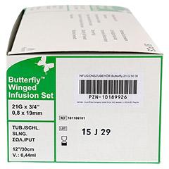BUTTERFLY Infusionszubehör 21 G grün CPC 50 Stück - Rechte Seite