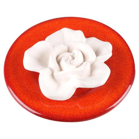 DUFTSTEIN Rose+Teller rot 1 Stück