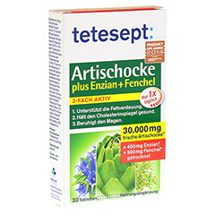 TETESEPT Artischocke plus Enzian+Fenchel Filmtabl. 30 St�ck