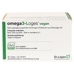 OMEGA 3-Loges vegan Kapseln 120 St�ck - R�ckseite