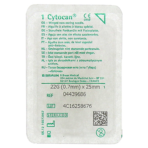CYTOCAN Portkanüle 22 G 25 mm 1 Stück