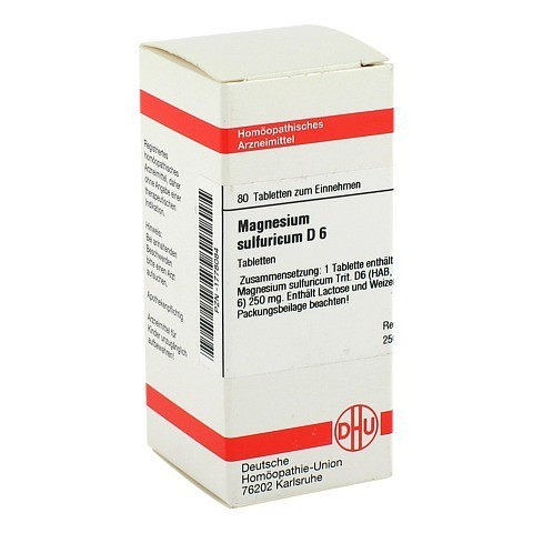 MAGNESIUM SULFURICUM D 6 Tabletten 80 St�ck N1