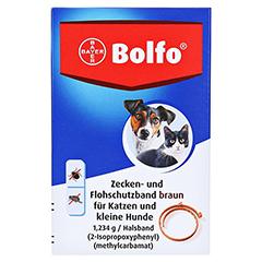 BOLFO Flohschutzband braun f.kleine Hunde/Katzen 1 Stück - Vorderseite