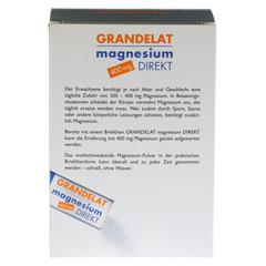 MAGNESIUM DIREKT 400 mg Grandelat Pulver 40 St�ck - R�ckseite