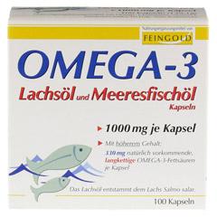 OMEGA 3 Lachsöl und Meeresfischöl Kapseln 100 Stück - Vorderseite