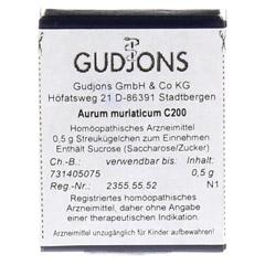 AURUM MURIATICUM C 200 Einzeldosis Globuli 0.5 Gramm N1 - Vorderseite