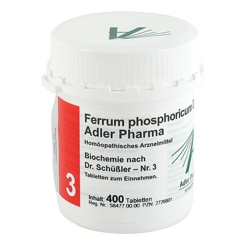 BIOCHEMIE Adler 3 Ferrum phosphoricum D 12 Tabl. 400 St�ck