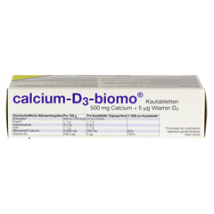 CALCIUM D3 biomo Kautabletten 500+D 50 St�ck - Unterseite