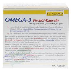 OMEGA 3 Fischöl Kapseln 100 Stück - Rückseite
