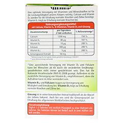 KNEIPP Knochenmineral Calcium Tabletten 30 Stück - Rückseite