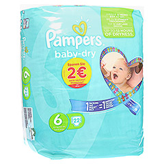 PAMPERS Baby Dry Gr.6 Extra Large 15+kg Sparpack 22 Stück