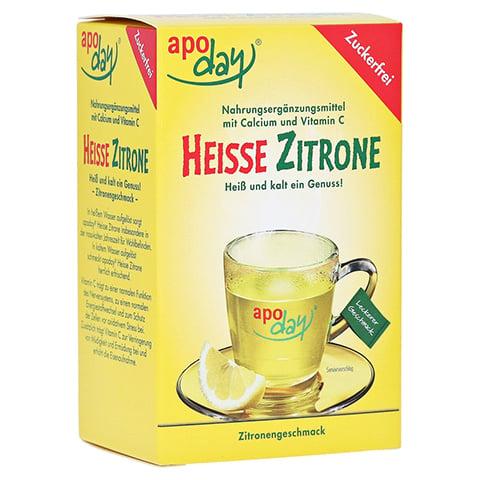 APODAY hei�e Zitrone Vit.C u.Calcium zuckerfr.Plv. 10x10 Gramm