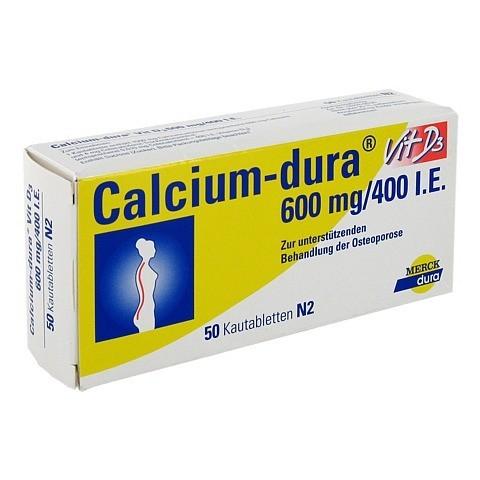 CALCIUM DURA Vit D3 600 mg/400 I.E. Kautabletten 50 Stück N2